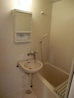 グリーンベルハイツ 307 収納付の鏡が便利です