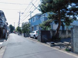【前面道路含む現地写真】杉並区阿佐谷北5丁目 建築条件なし土地