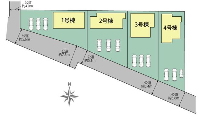 【区画図】高崎市東中里町 2号棟