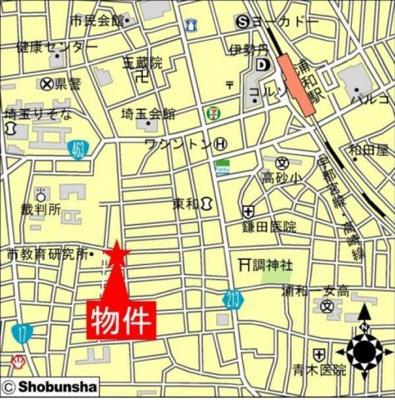 【地図】サンライズマンション