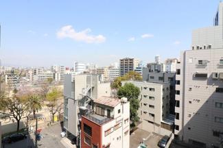8階バルコニーからの眺望