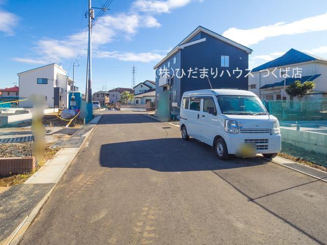 【前面道路含む現地写真】土浦市右籾7期 新築戸建  4号棟