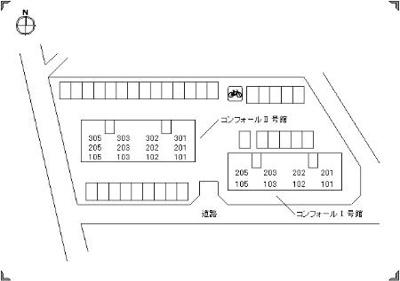 【区画図】コンフォールⅡ号館