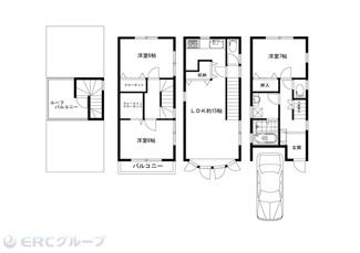 木造スレート葺3階建て(建物面積85.45m2:約25.84坪)