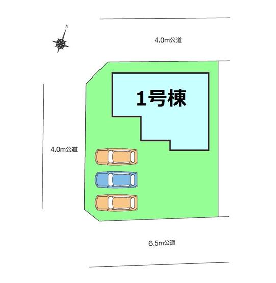 【区画図】新築 安中市簗瀬HM1-1