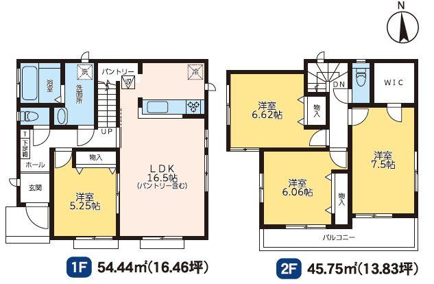 2号棟 4LDK+SIC 全居室フローリングのお部屋です。お掃除がラクラクです。