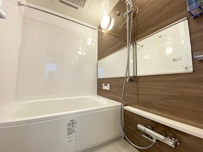 浴室もリフォーム済でカビの心配もありません。 浴室乾燥機があるので、梅雨や花粉の時期の洗濯も安心して干す事ができますね♪