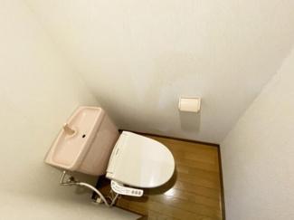 【トイレ】《満室!木造14%》長岡市長峰町一棟アパート