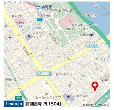 【地図】ドルチェ日本橋浜町・弐番館