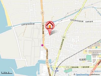 【地図】ファインコート(松前)
