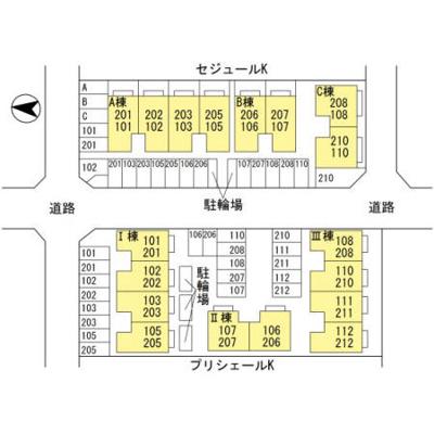 【区画図】プリシェールK Ⅲ棟