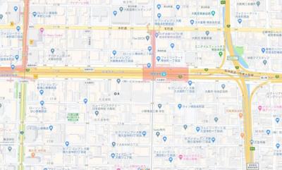 【地図】ブランズ大阪本町