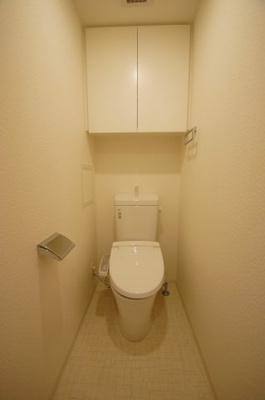「温水洗浄便座付のトイレです」