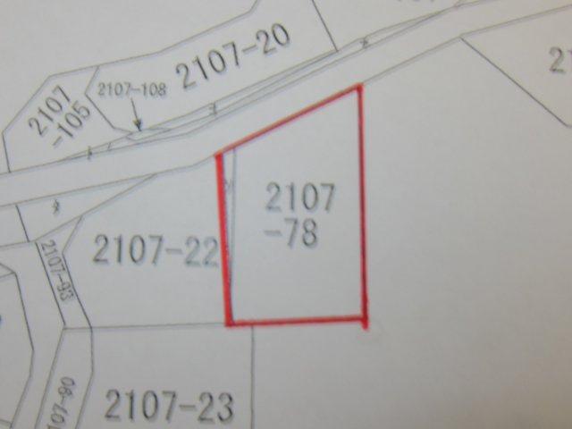 北側市道と敷地の関係図です。