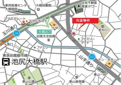 【地図】VORT青葉台Ⅱ
