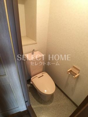 ゆったりとした空間のトイレです 同型タイプです