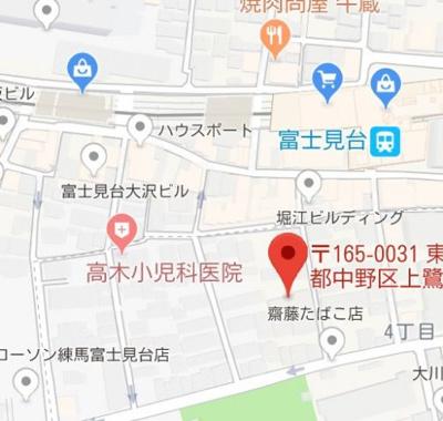 【地図】フュージョナル上鷺宮