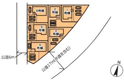 【区画図】リーブルガーデン 真岡亀山 第10 4号棟