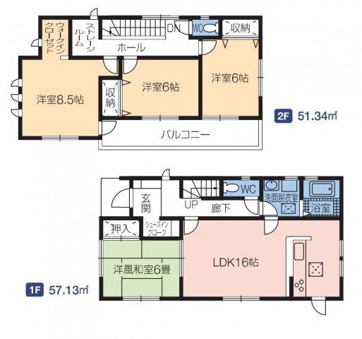 【区画図】第3渋川市行幸田 2号棟/LiveleGarden.S