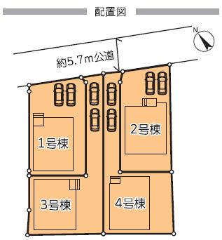 2号棟・現地配置図です。