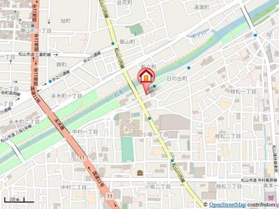 【地図】カサグランデリバーサイドⅡ・