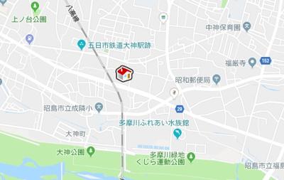 【地図】レオパレスRUHEN HEIM(37211-105)
