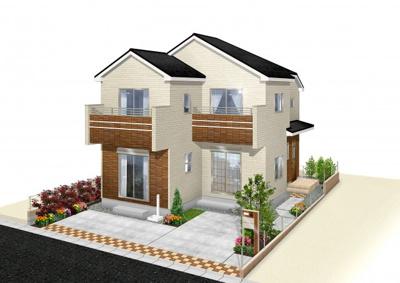 (20号棟)完成予想図 ゆとりある30坪超の邸宅が毎日の生活に彩りを与えてくれます。