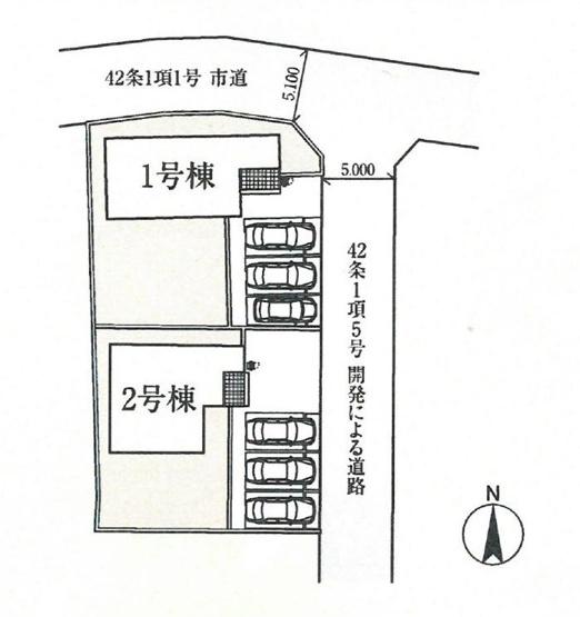 【区画図】吉岡町下野田20-2期 2号棟/LIGNAGE