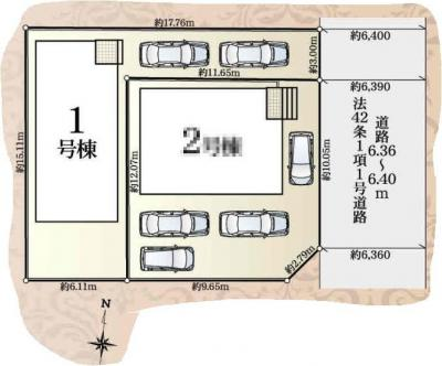 【区画図】浜松市東区篠ケ瀬町 3期 新築一戸建て 1号棟 AN
