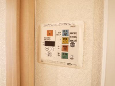 雨の日に便利な浴室乾燥機付き