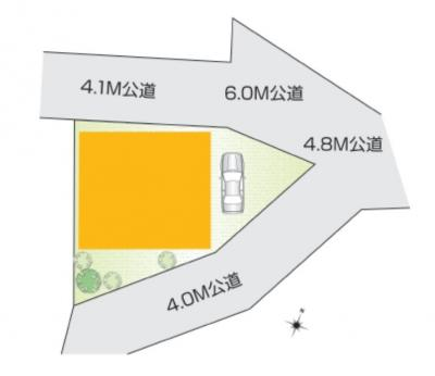 【区画図】入間市小谷田 全1棟
