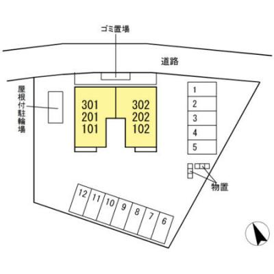 【地図】D-ROOM高畑
