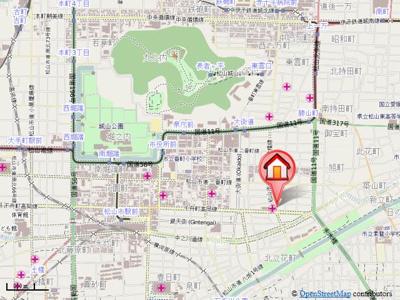【地図】アリスト・ラ・フェンテ