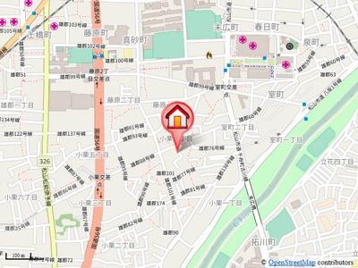 【地図】コーポつかさ
