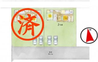 【区画図】矢吹町善郷内新築一戸建て2棟
