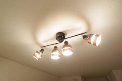 照明が付いています