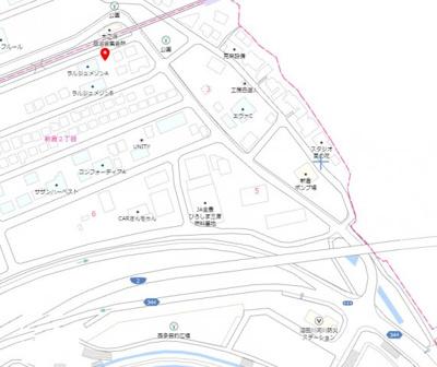 【地図】新倉2丁目 売地