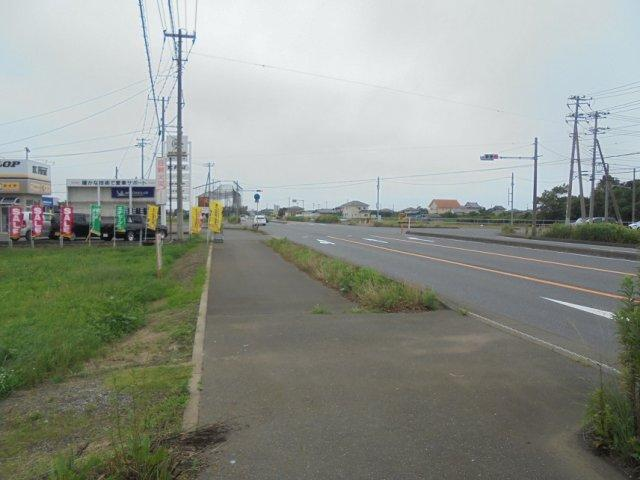 【前面道路含む現地写真】ひたちなか市長砂土地