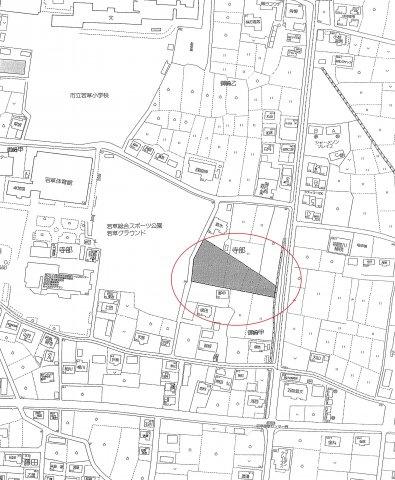 【地図】南アルプス市寺部6区画