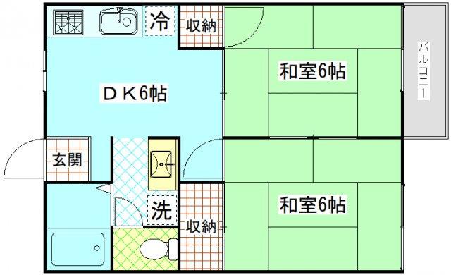 レジデンス船越201 2DK 横須賀市船越町7丁目