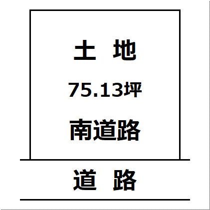 【土地図】大仙市高梨の住宅用地
