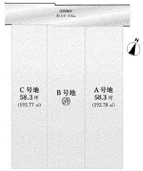 【区画図】箕面市桜井1丁目 土地 C号地