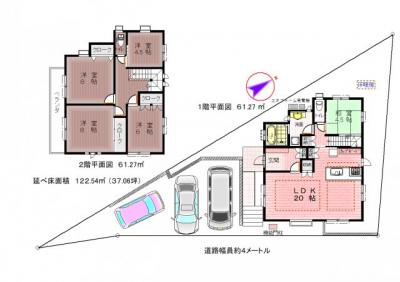 【区画図】神戸市垂水区西舞子8丁目 新築戸建