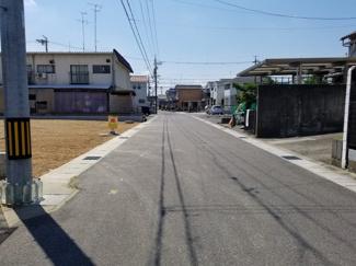 【前面道路含む現地写真】56846 岐阜市祈年町分譲地