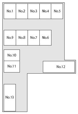 【区画図】荻野駐車場 13