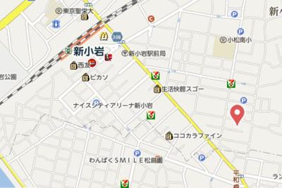 【地図】グランフィオーレ新小岩