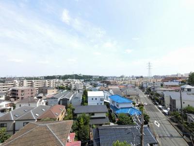 5階部分からの眺望です。 前面に建物がなく開放感◎