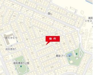 【地図】湘南鷹取5丁目売地