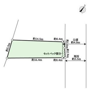 【区画図】売地 川崎市幸区鹿島田1丁目