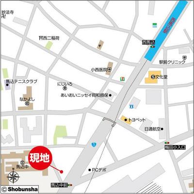 【地図】ルクレ西馬込